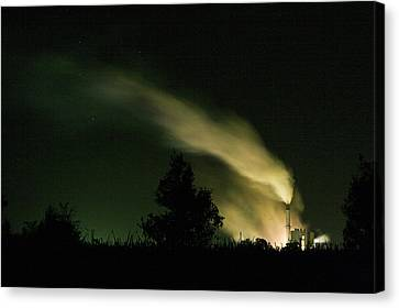 Canvas Print featuring the photograph Night Steaming by Odille Esmonde-Morgan