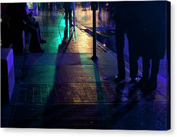 Night Streets Canvas Print by Barbara  White