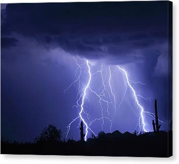 Night Striking Down Canvas Print