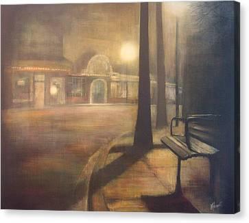 Night Stroll Canvas Print by Victoria Heryet