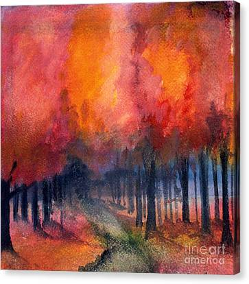 Night Time Among The Maples Canvas Print
