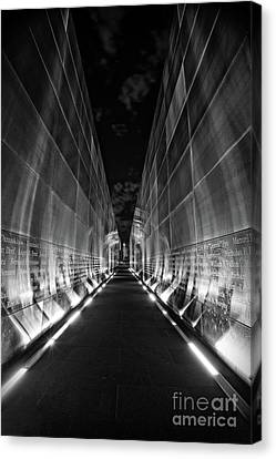 Night Time At Empty Sky Memorial Canvas Print by Nicki McManus