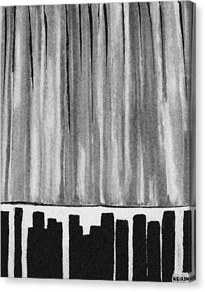 Night Time Downtown Canvas Print