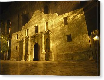 Night Time-exposed Zoom Gives Haunting Canvas Print