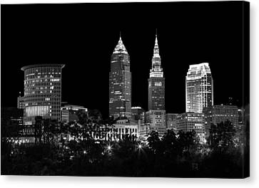 Night Time In Cleveland Ohio Canvas Print