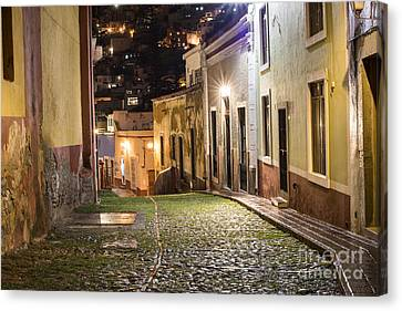 Night Time In Guanajuato Mexico Canvas Print by Juli Scalzi