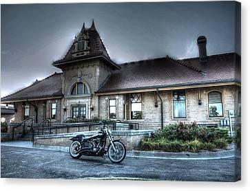 Train Depot Canvas Print - Night Train Depot by Joseph Porey