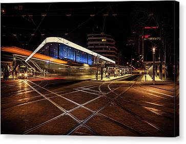 Night Tram Canvas Print