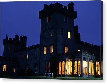 Night View Of Dromoland Castle Canvas Print by Carl Purcell