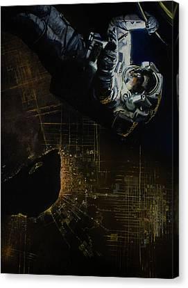 Night Walk 2 Canvas Print by Simon Kregar