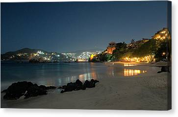 Canvas Print featuring the photograph Night Walk On La Ropa by Jim Walls PhotoArtist