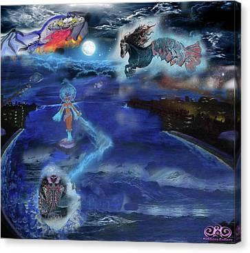 Night Walk Canvas Print