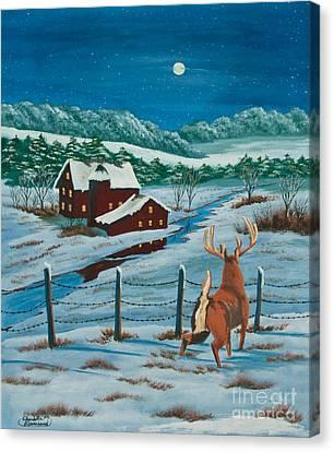 Night Watch Canvas Print by Charlotte Blanchard