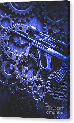 Night Watch Gears Canvas Print