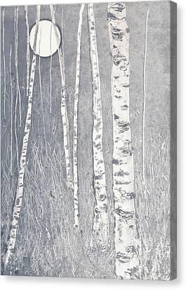 Night Watchmen Canvas Print by Lisa Le Quelenec