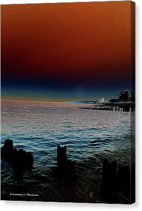 Night Winds And Waves Canvas Print