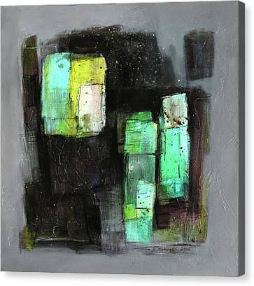 Texture Of Night Painting Canvas Print by Behzad Sohrabi