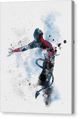 X Men Canvas Print - Nightcrawler  by Rebecca Jenkins