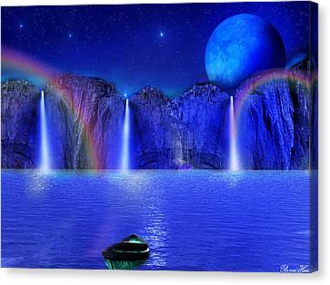 Canvas Print featuring the photograph Nightdreams by Bernd Hau