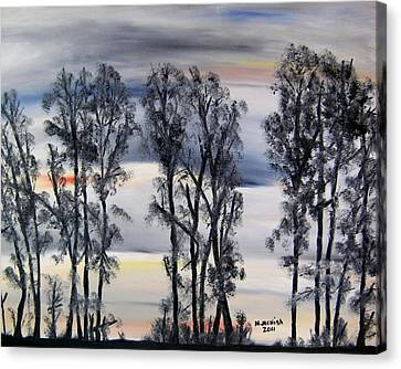 Nightfall Approaching Canvas Print by Marilyn  McNish