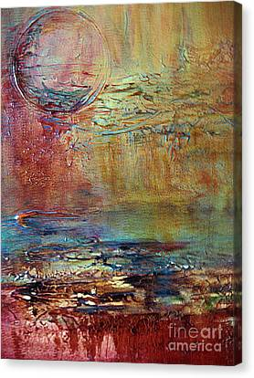 Canvas Print featuring the painting Nightfall by Diana Bursztein