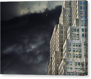 Artography Canvas Print - Nightfall In The City by AJ Yoder