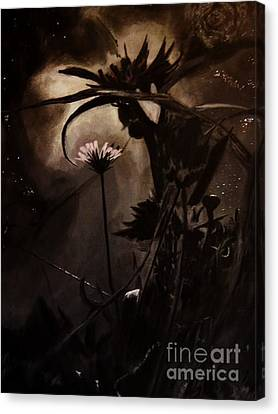 Canvas Print featuring the painting Nightflower by Vanessa Palomino