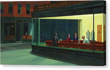 Nighthawks Hillary And Donald Canvas Print by Movie Poster Prints