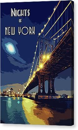 Nights Of New York Canvas Print