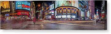 Nights On Broadway Canvas Print by Az Jackson