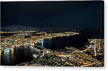 Nightscape Of Tromso Canvas Print