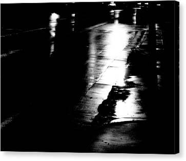 Canvas Print featuring the photograph Nightshot 2 by Jeff DOttavio