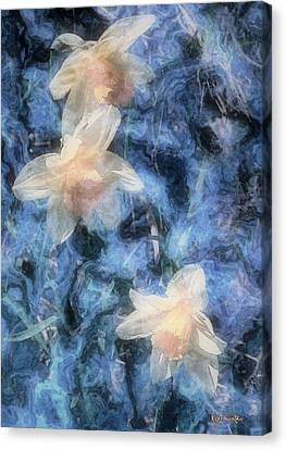 Nighttime Narcissus Canvas Print by RC deWinter