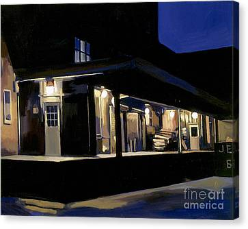 Nighttime On Southampton Street Canvas Print by Deb Putnam