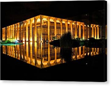 Canvas Print featuring the photograph Nighttime Reflections by Kim Wilson