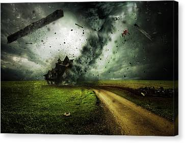 Nighttime Terror Canvas Print
