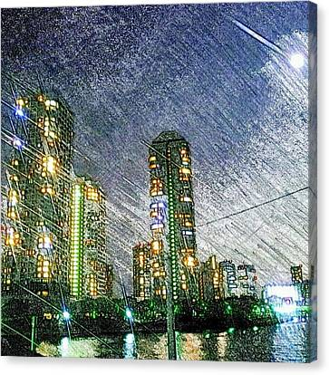 Tokyo River Canvas Print by Daisuke Kondo