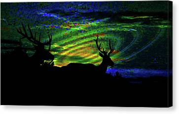Log Cabins Canvas Print - Nightwatch by Mike Breau