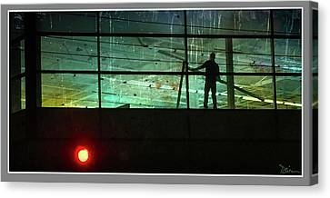 Nightwork Canvas Print by Peggy Dietz