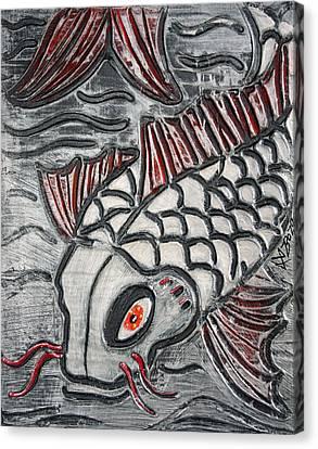 Niigata Koi Canvas Print by Laura Barbosa