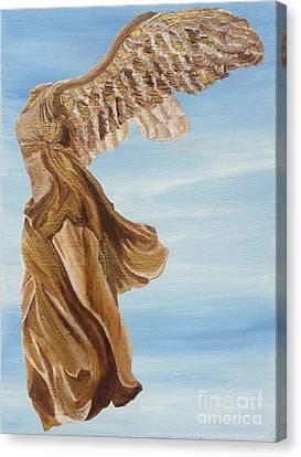 Nike Goddess Of Victory Canvas Print by Ashley Baldwin