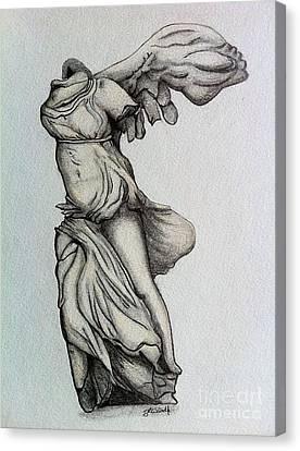 Nike Of Samothrace Canvas Print by Shane Whitlock