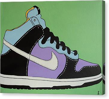 Nike Shoe Canvas Print by Grant  Swinney