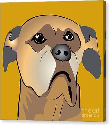 Niki Boxer Dog Portrait Canvas Print by Robyn Saunders