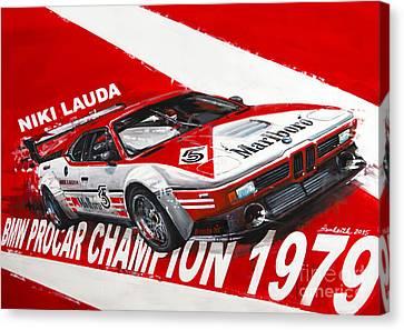 Niki Lauda Bmw M1 Procar  Canvas Print by Daniel Senkerik