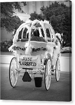 Nikki And Kris Just Married Canvas Print by James Granberry