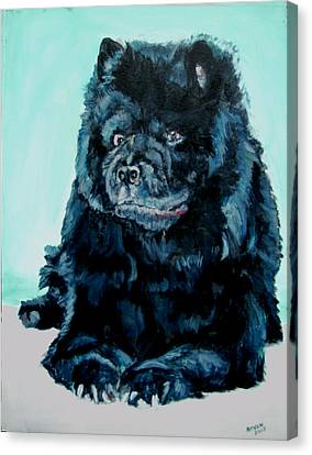Canvas Print featuring the painting Nikki The Chow by Bryan Bustard