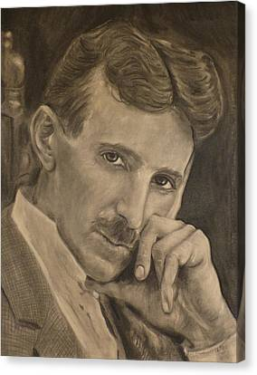 Nikola Tesla Canvas Print by Adrienne Martino