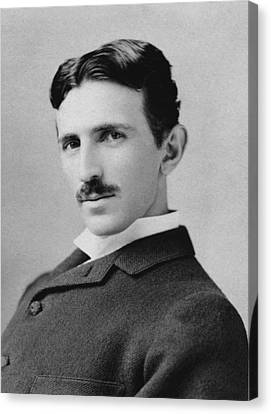 Physicist Canvas Print - Nikola Tesla - Circa 1890 by War Is Hell Store