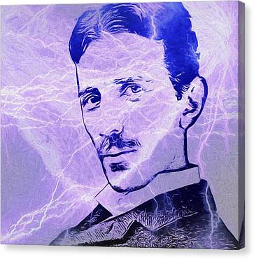 Lightning D Canvas Print - Nikola Tesla Electric Mind by Dan Sproul